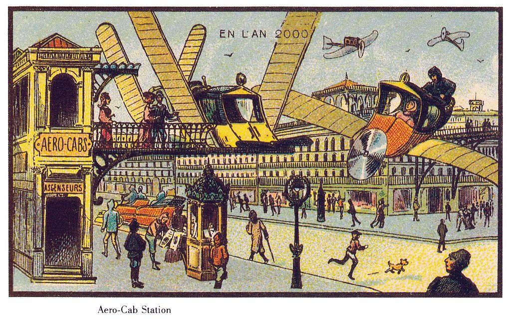 Dibujo de 1900 sobre el año 2000
