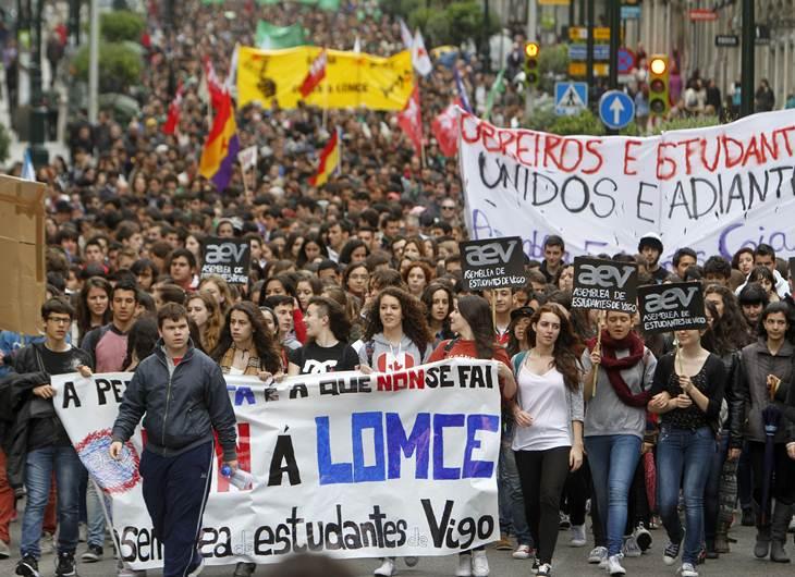 Huelga contra la ley Wert