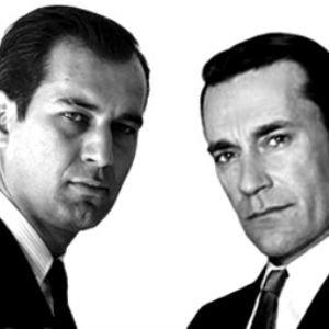 George Lois junto a Don Draper (interpretado por Jon Hamm)