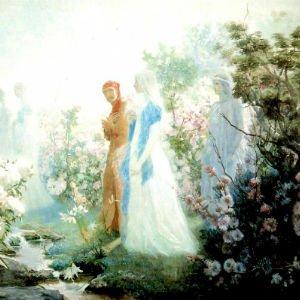Dante y Beatriz a orillas del Leteo, de Cristobal Rojas