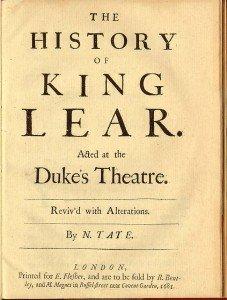 Facsímil de la primera edición de Tate de 1681