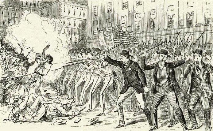 Otro grabado del disturbio del Astor Opera House