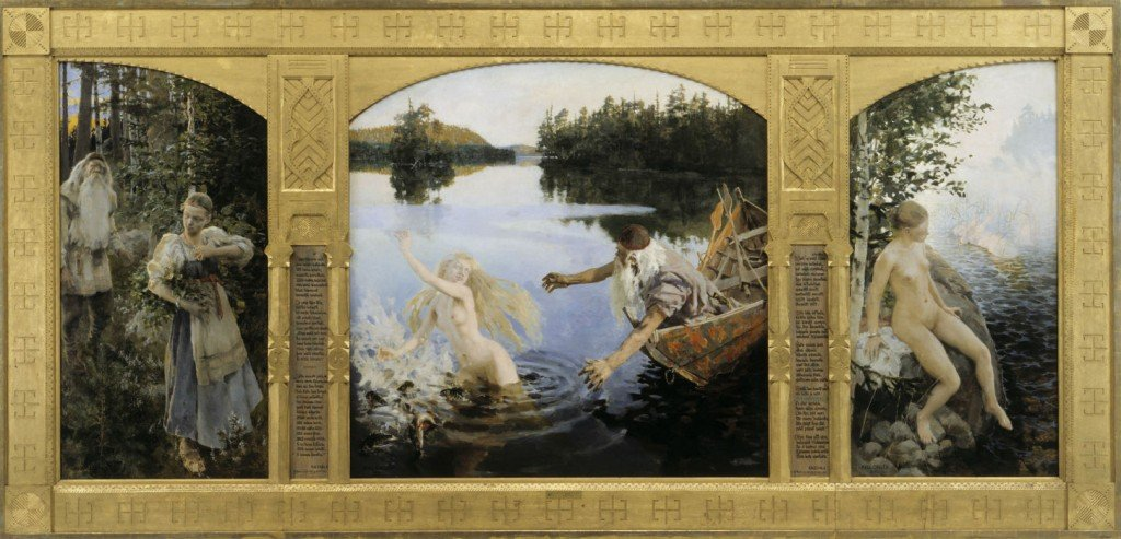 Tríptico de la leyenda de Aino (1891) de Gallen-Kallela