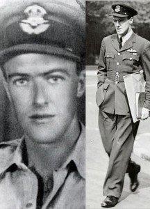 Roald Dahl vestido como militar