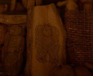 Dibujo de Sully en la tienda de la bruja