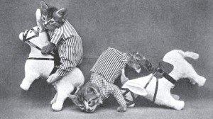 Gatos con forma humana