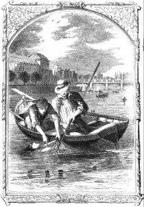 Ilustración de una reedición de 1853 de El misterio de Marie Roget