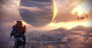 Un guardián del Universo observa al Viajero sobre la Tierra