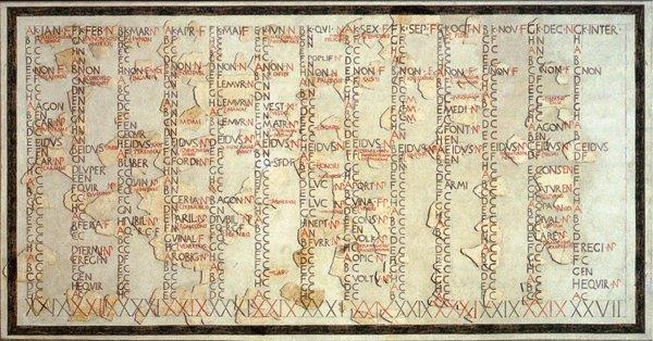 Calendario inventado por los romanos para los fabricantes modernos de agendas