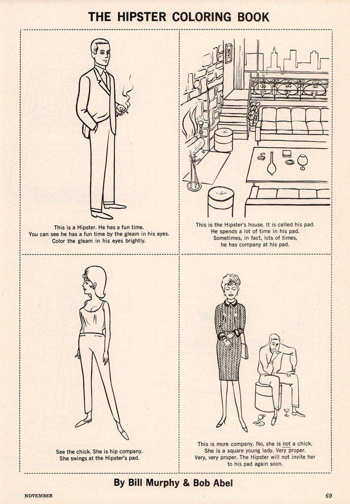 Páginas de El libro de colorear del hispter