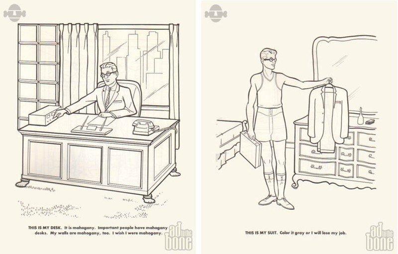 Páginas de El libro de colorear del ejecutivo