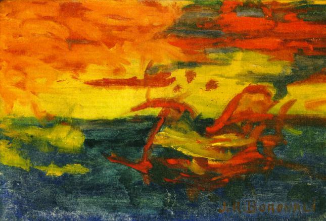 Puesta de sol sobre el mar Adriático