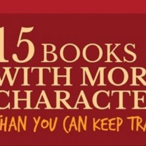 15 libros según su número de personajes