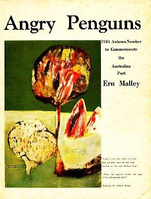 Portada del número de Angry Penguins dedicado a Ern Malley