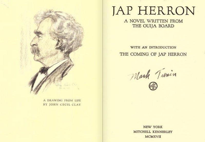 Jap Herron: Una novela escrita desde el tablero de ouija