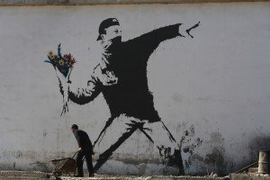 Famoso grafiti de Banksy