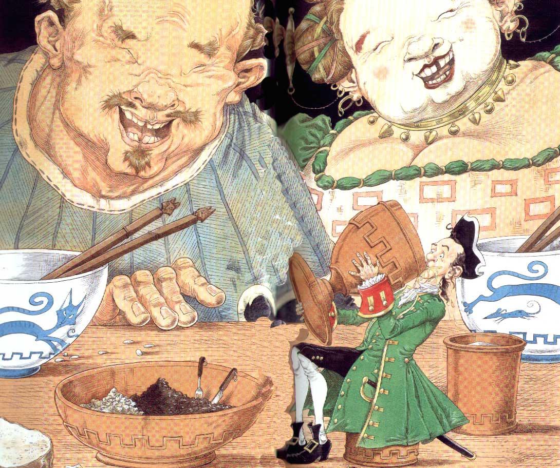 Ilustración para Los viajes de Gulliver en Cucaña, Vicens Vives