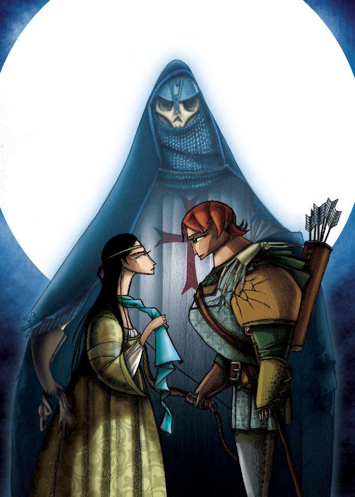 Ilustración de David Guirao para las leyendas de Bécquer en Anaya