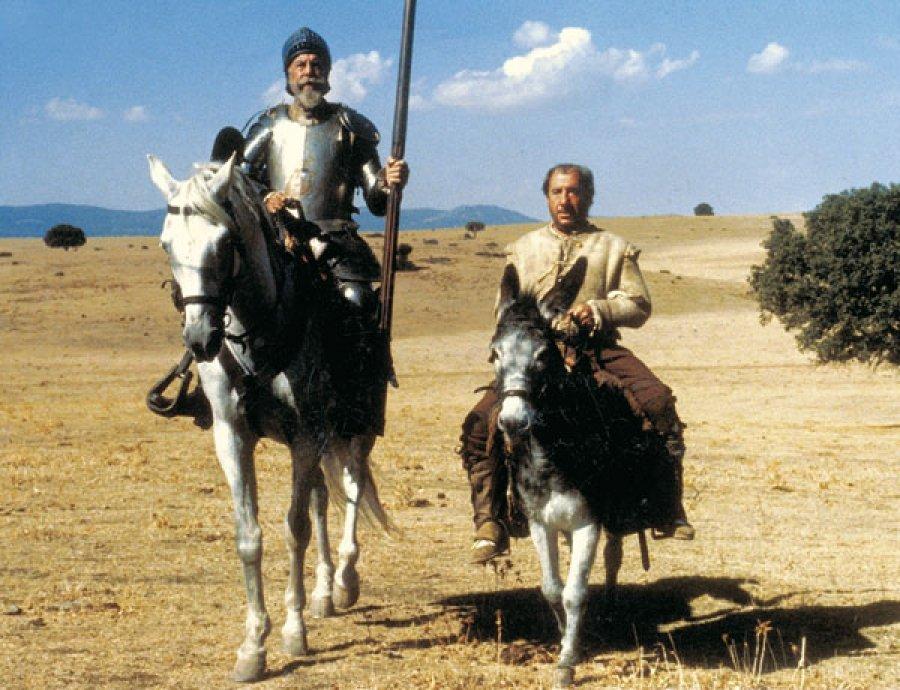 Fernando Rey como don Quijote y Alfredo Landa como Sancho Panza