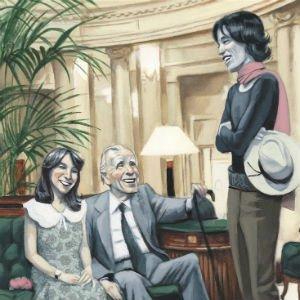 Encuentro ilustrado por Fernando Vicente para el libro De Madrid al Palace