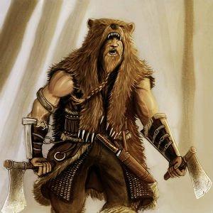 Berserker con piel de oso