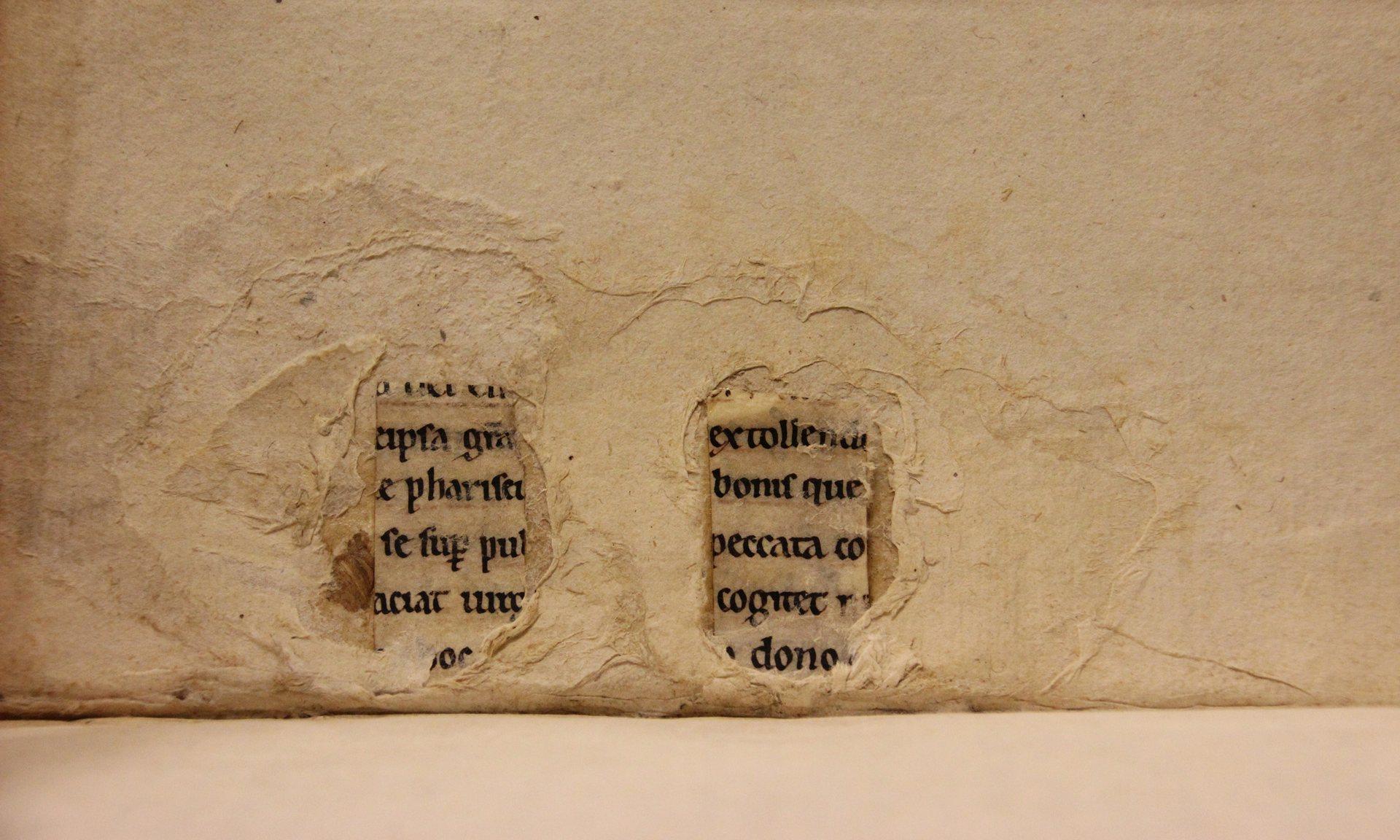 Otro ejemplo de fragmento de texto oculto (foto de Erik Kwakkel)