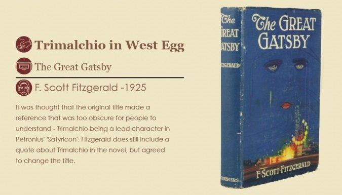 Trimalción en el West Egg