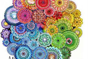 Página de El jardín encantado de Johanna Basford