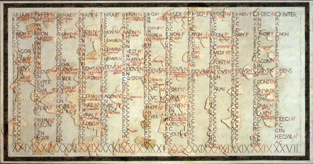 Calendario de Julio Cesar el año más largo de la historia
