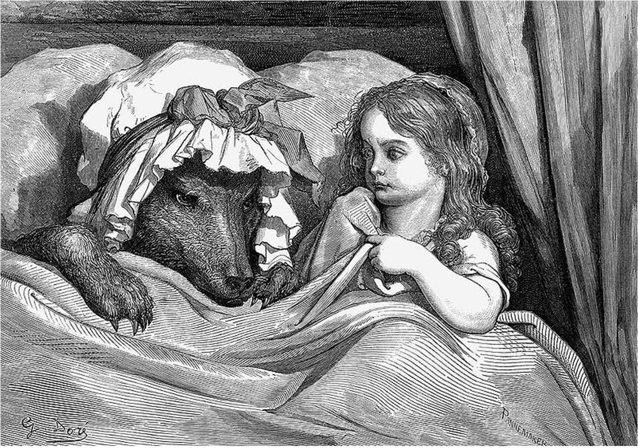 Caperucita ilustrada por Doré