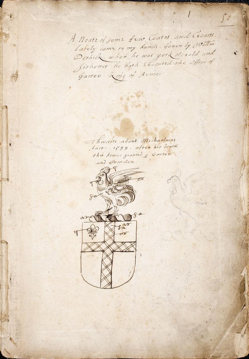 Documento con el escudo