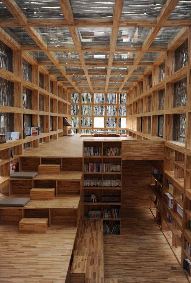 Librería de Jiaojiehe (Foto vía Designboom)