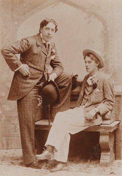 Oscar Wilde y su amante Lord Alfred Douglas
