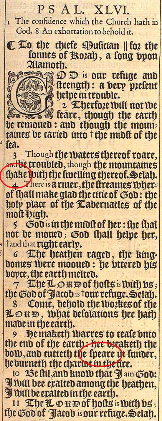 Salmo 46, con la clave marcada