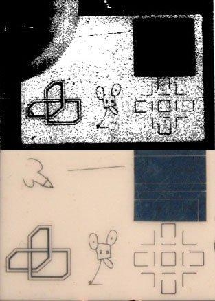 Arriba, la fotografía que apareció en el diario 'The New York Times', con el dibujo de Andy Warhol oculto por un pulgar. Abajo, la obra completa