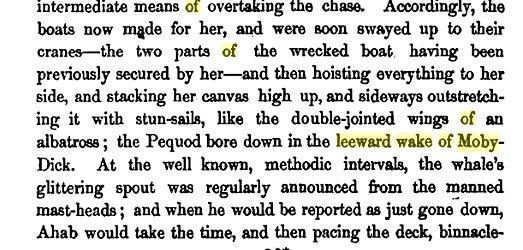 Página 609 de la novela, en la que aparece Moby-Dick