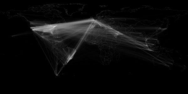 mapa qué país hace retweet más
