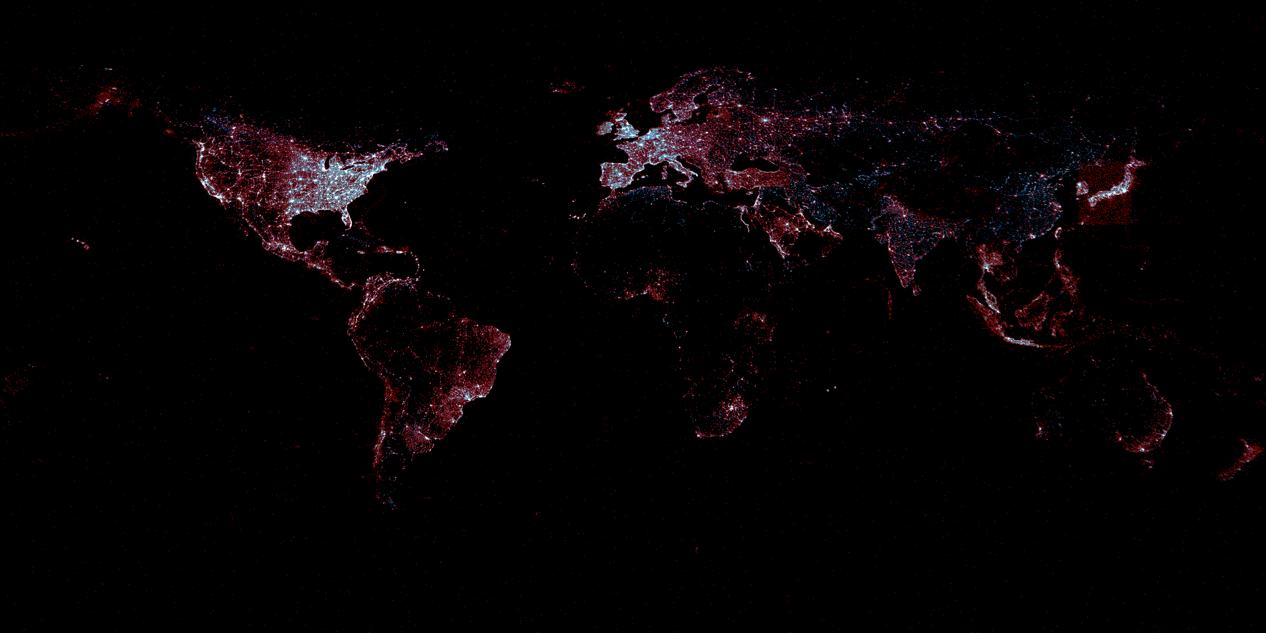mapa cómo late twitter