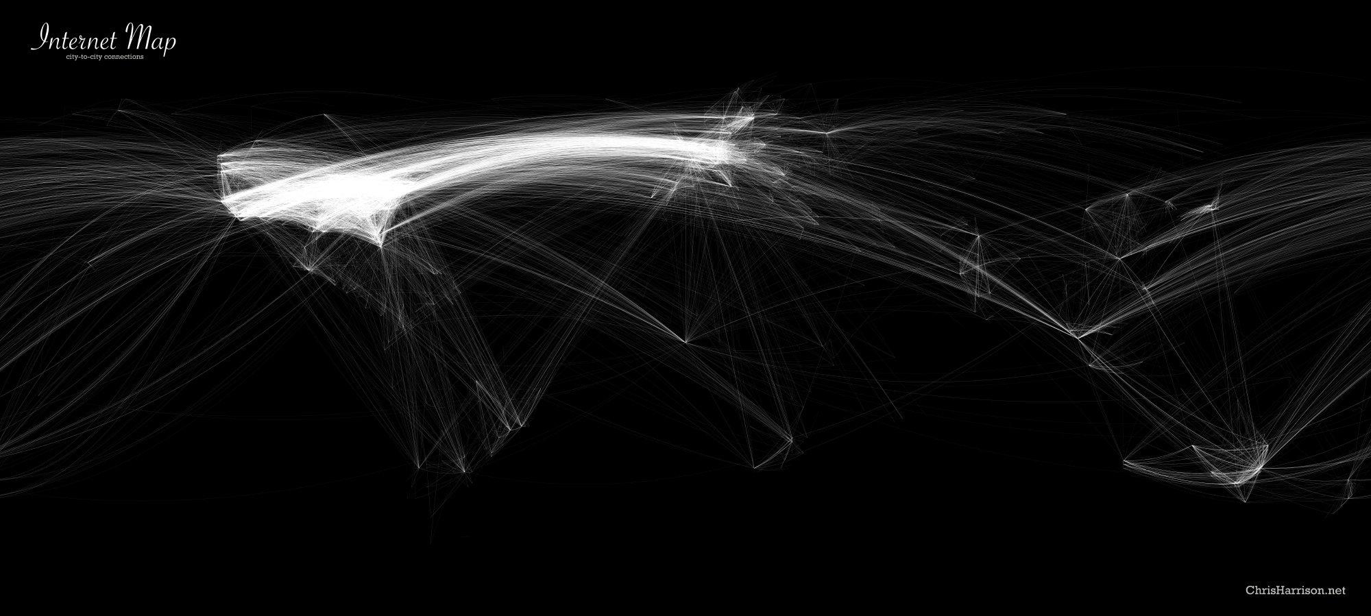 mapa tráfico de Internet
