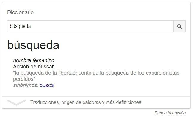diccionario google búsqueda