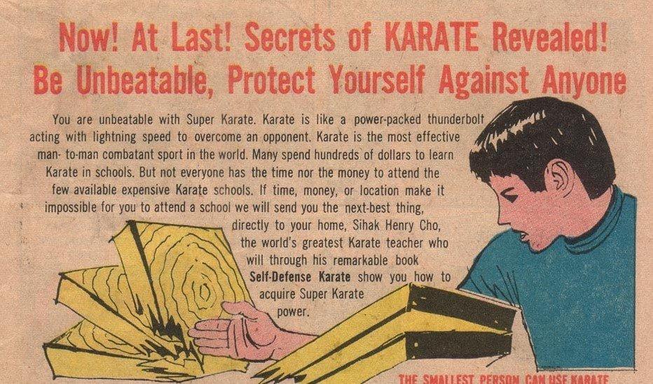 Libro para aprender karate anunciado en un tebeo infantil