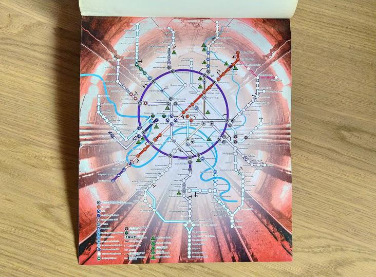 Metro 2033, de Dmitri Glujovski libro mapa