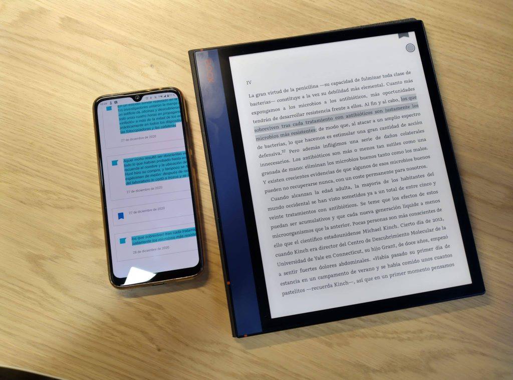 BOOX Note Air android 10 conectividad google drive