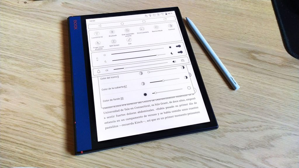 BOOX Note Air android 10 configuracion