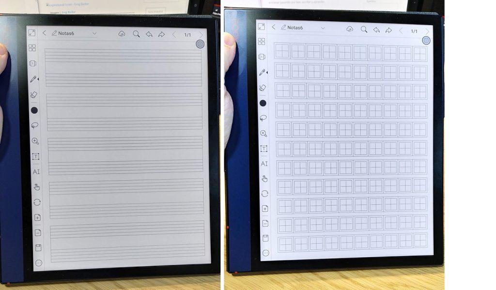 BOOX Note Air android 10 plantilla escritura