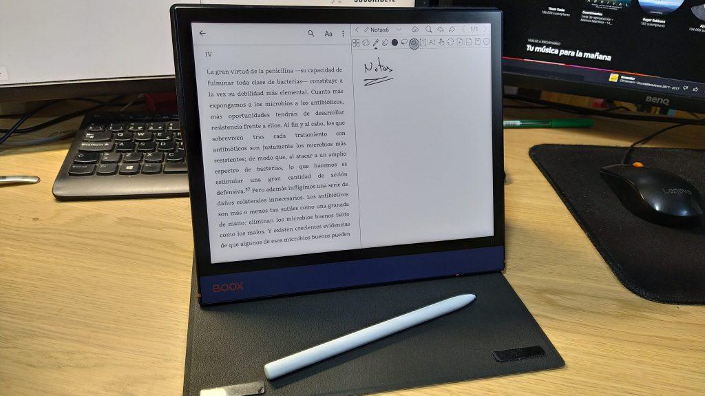 BOOX note air android 10 pantalla partida