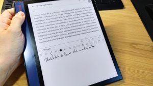 BOOX note air android 10 pantalla partida vertical