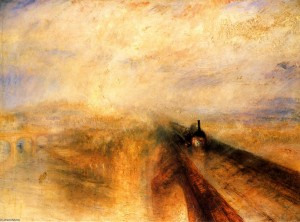 Joseph Mallord William Turner, Lluvia, vapor y velocidad. El gran ferrocarril del Oeste, (exhibido 1844), National Gallery, Londres