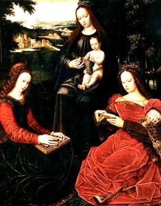 La Virgen, niños y santos