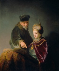 Joven estudiante y su tutor